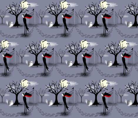 Lonely, I'm Mr. Lonely fabric by vo_aka_virginiao on Spoonflower - custom fabric