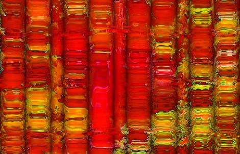 Delphian heART fabric by valzart on Spoonflower - custom fabric