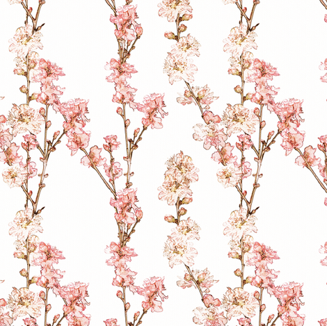 Spring Blossoms fabric by kristopherk on Spoonflower - custom fabric
