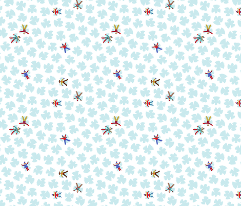 Snow Angels - Ice Colorway by Cathy Heck Studio fabric by cathyheckstudio on Spoonflower - custom fabric