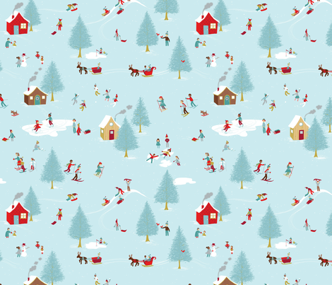 Winterland - Ice Colorway by Cathy Heck Studio fabric by cathyheckstudio on Spoonflower - custom fabric