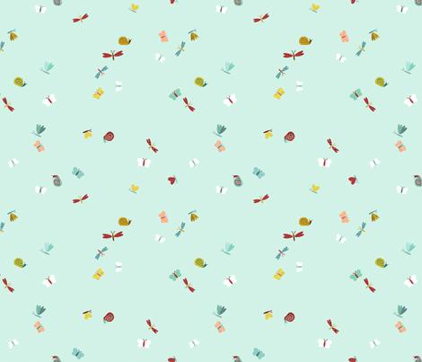 Flutterflies in Rain fabric by cathyheckstudio on Spoonflower - custom fabric