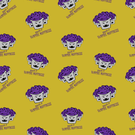 bewareofvampiremuffins fabric by ravynka on Spoonflower - custom fabric