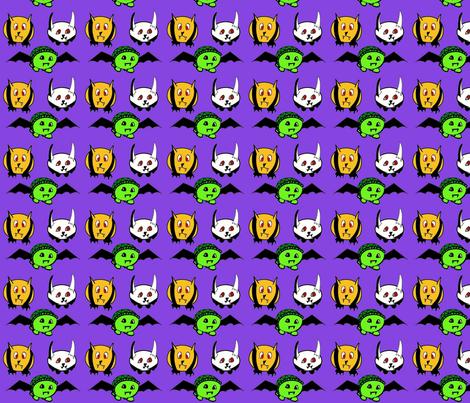 animal vampires fabric by raz_1008 on Spoonflower - custom fabric