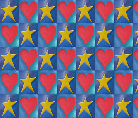 Heart_and_Star fabric by karenmayo on Spoonflower - custom fabric
