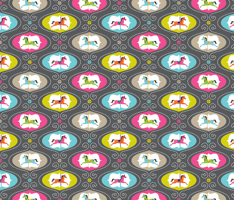 Merry Go Round SMALL SCALE fabric by zesti on Spoonflower - custom fabric