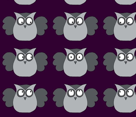 Whoo you looking at? fabric by fluffygeek on Spoonflower - custom fabric