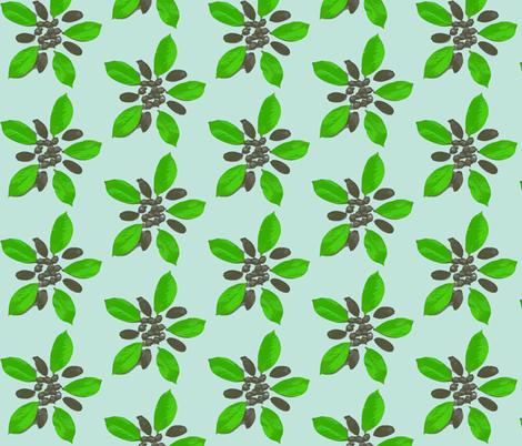 Floral acorns fabric by koffeycakes on Spoonflower - custom fabric