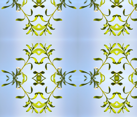 delicate plant fabric by emmaleeerose on Spoonflower - custom fabric