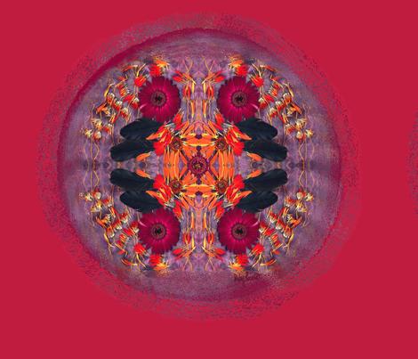Raven Petal, Mandala pillow set-up fabric by rubyrice on Spoonflower - custom fabric