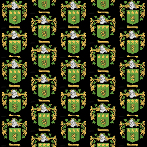 moore-coat-of-arms-family-crest-ed fabric by sewmommy on Spoonflower - custom fabric