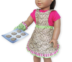 Cookie Craving Reversible Apron, Oven Mitt and Cookie Pan