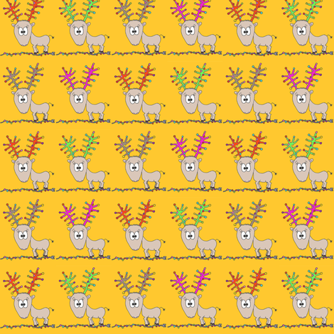 CurlyPops - Reindeer Row fabric by curlypops on Spoonflower - custom fabric