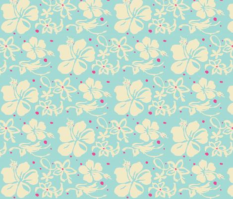 Hawaiian Flowers fabric by plasticity_design on Spoonflower - custom fabric