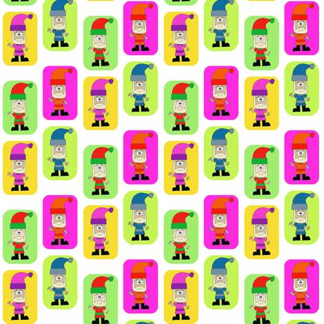 CurlyPops - Technicolour Santa fabric by curlypops on Spoonflower - custom fabric