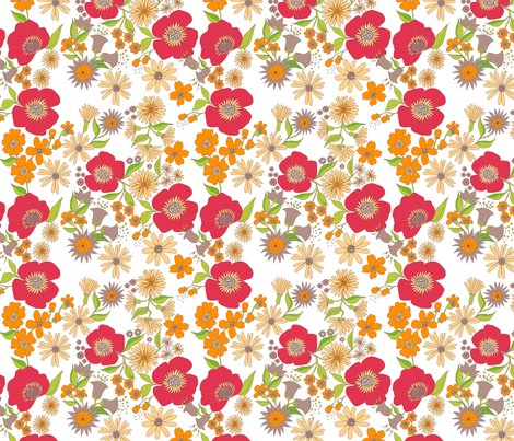 douce_fleur_rouge fabric by nadja_petremand on Spoonflower - custom fabric