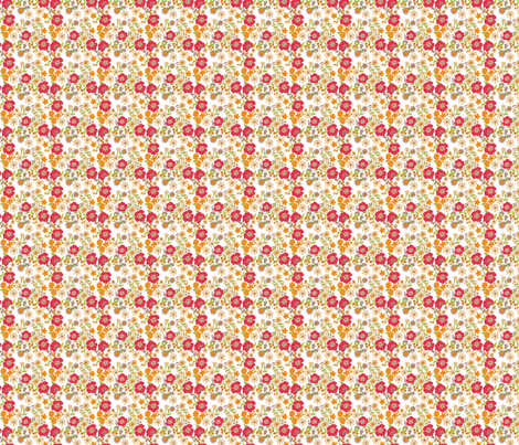 douce_fleur_rouge_S fabric by nadja_petremand on Spoonflower - custom fabric