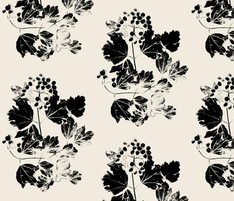 Fancy Viburnum 2 fabric by itaya on Spoonflower - custom fabric