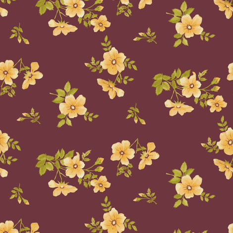 Austrian_Rose fabric by ashland_house_designs on Spoonflower - custom fabric