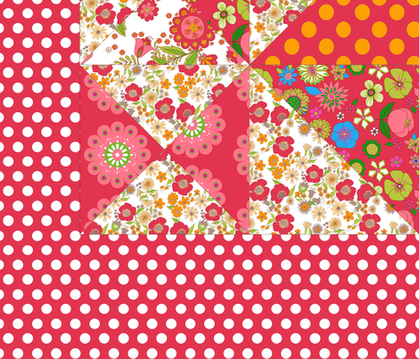 rêve_rouge fabric by nadja_petremand on Spoonflower - custom fabric