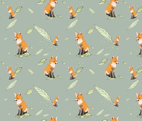 Foxes fabric fabric by nicolaclare on Spoonflower - custom fabric