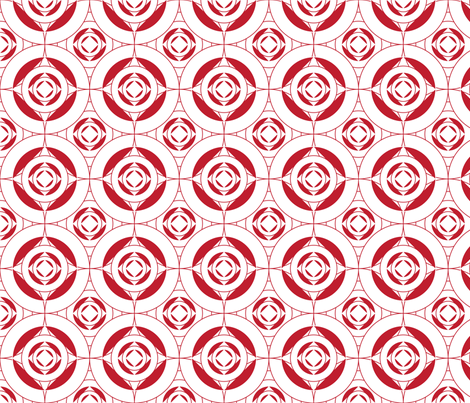 Red_Circle_pattern fabric by lousue on Spoonflower - custom fabric