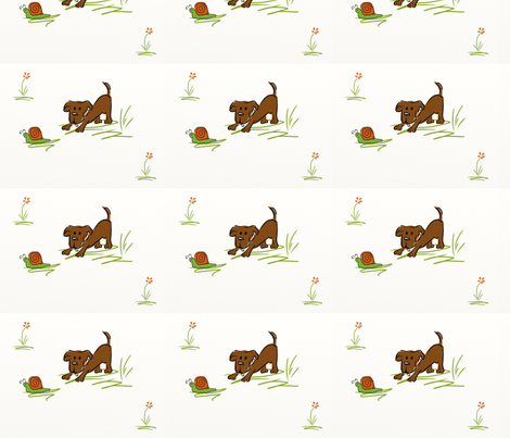 snails_and_tails fabric by namastemama on Spoonflower - custom fabric