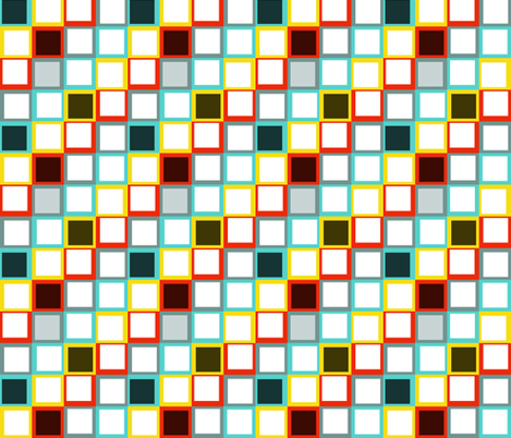 squares fabric by printablecrush on Spoonflower - custom fabric