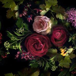 black_flowerspanel