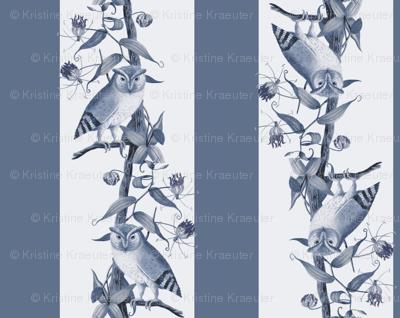 Owl Stripes (Dusty Blue)