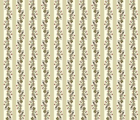Owl Stripes (Tan) fabric by hauteideas on Spoonflower - custom fabric