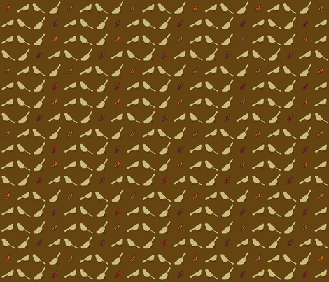 Little_Birds_Autumn_brown fabric by cmerdian on Spoonflower - custom fabric