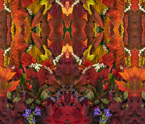 October Leaves and Then Some fabric by the_crazy_art_lady on Spoonflower - custom fabric