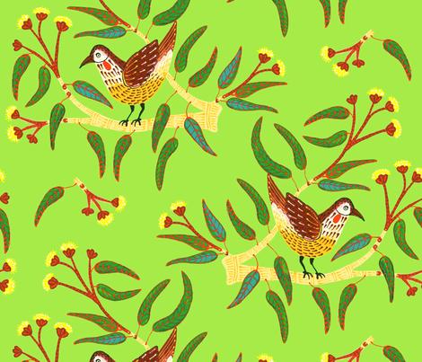 GreenWattleBird fabric by yellowstudio on Spoonflower - custom fabric