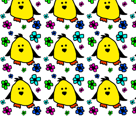 Chickies fabric by woolybumblebee on Spoonflower - custom fabric