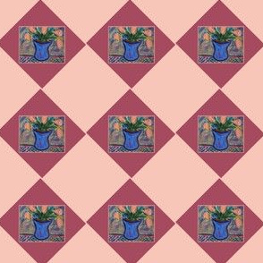 Blue Vase Argyle #2