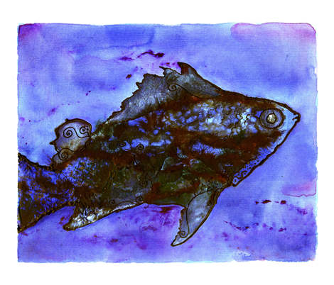 Fish fabric by jadegordon on Spoonflower - custom fabric