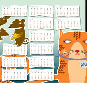 Bad Mice   2011 Tea Towel Calendar
