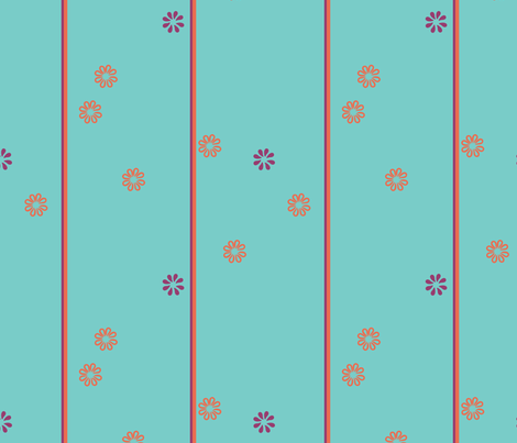 indiafloral3colors fabric by air_&_loom on Spoonflower - custom fabric