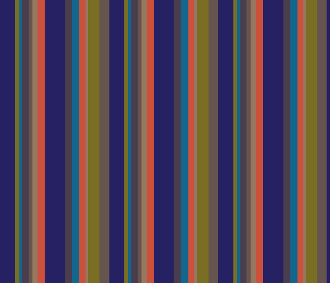 Navy Stripe fabric by dolphinandcondor on Spoonflower - custom fabric