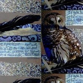 Camouflage Owl Encouragement