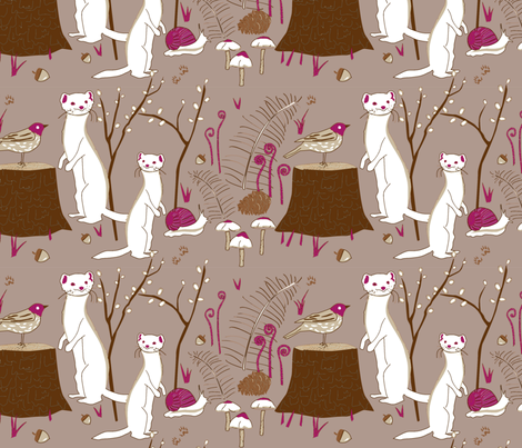 Forest Friends fabric by dynasty_b on Spoonflower - custom fabric