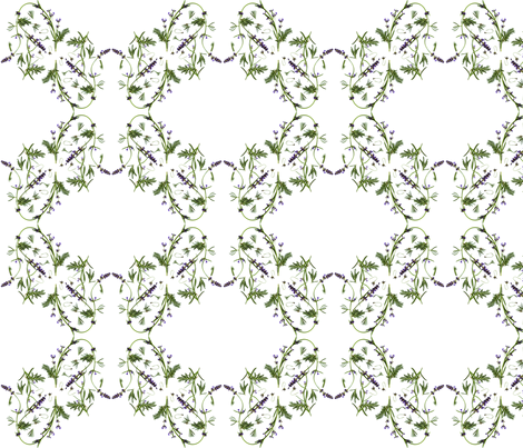 lavender garden - © Lucinda Wei fabric by lucindawei on Spoonflower - custom fabric