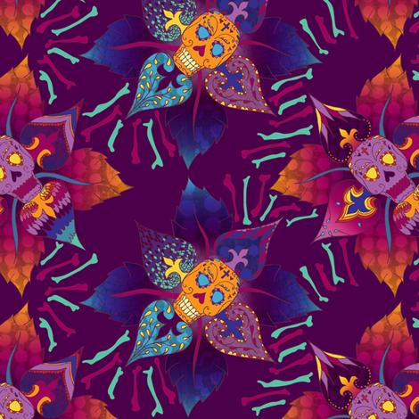 Flor de Muerto fabric by jessicasoon on Spoonflower - custom fabric