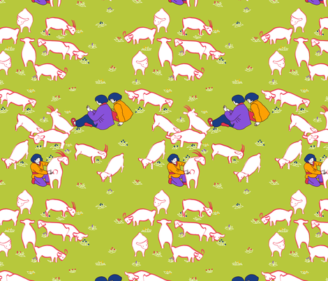 conter_les_moutons fabric by nadja_petremand on Spoonflower - custom fabric