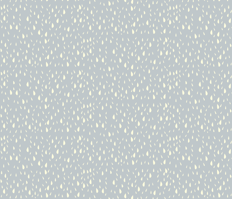 rain_on_blue fabric by featheredneststudio on Spoonflower - custom fabric