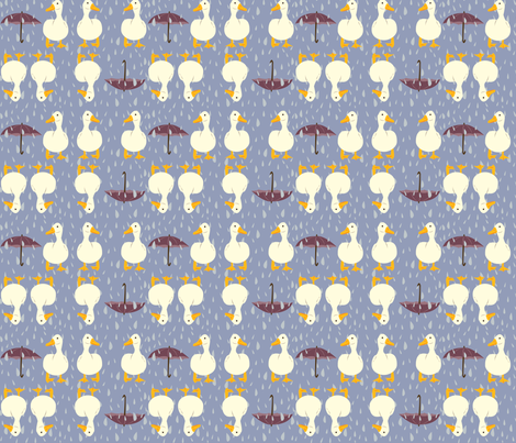 rainy_day_ducks fabric by featheredneststudio on Spoonflower - custom fabric