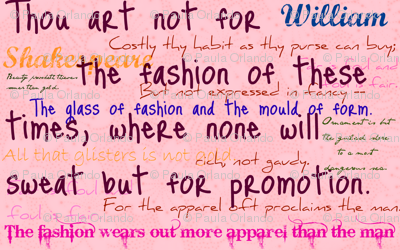 Shakespeare on fashion
