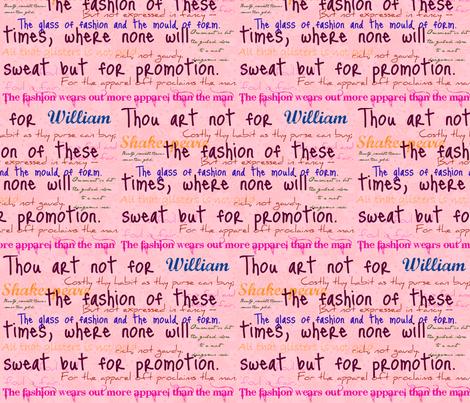 Shakespeare on fashion fabric by paulamarie on Spoonflower - custom fabric