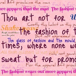Shakespeare on fashion